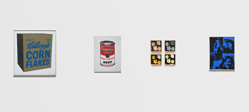 Richard Pettibone Pop Art appropriations of iconic Andy Warhol paintings.
