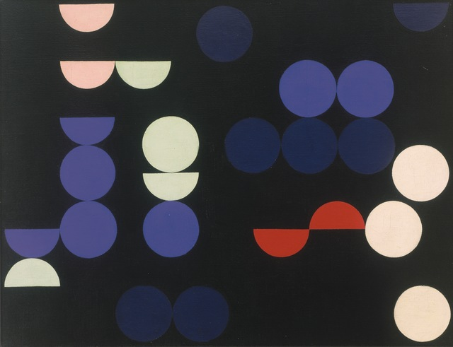 Sophie Taeuber-Arp, 'Composition with Circles and Semi-Circles', 1935, Painting, Oil on canvas, Art Resource