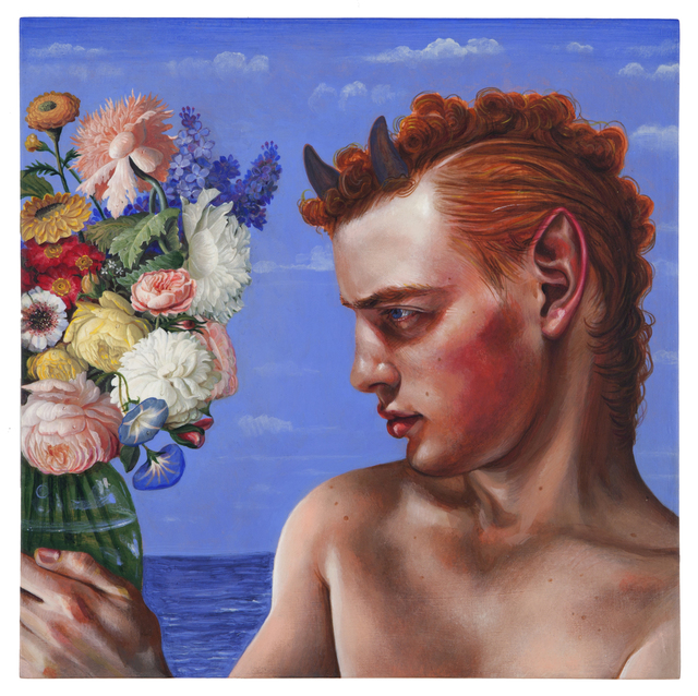 , 'The Faun Who Fell in Love with a Bouquet,' 2016, Nancy Hoffman Gallery