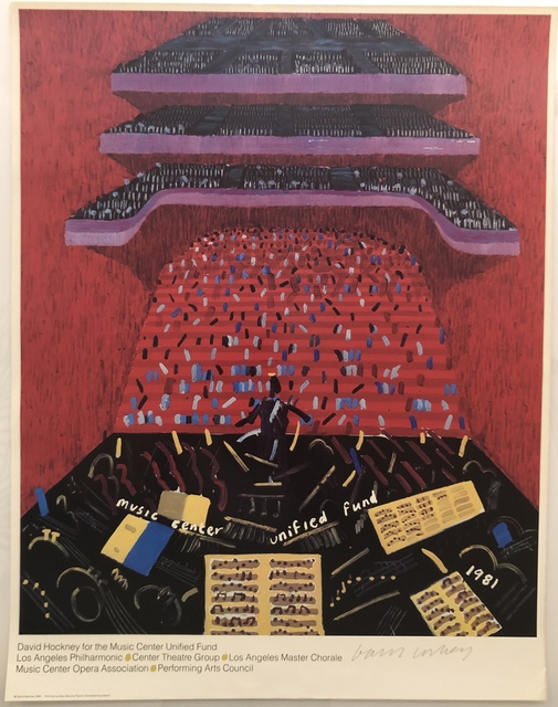 David Hockney, 'Hand Signed Los Angeles Music Center Unified Fund', 1981, Mr & Mrs Clark's