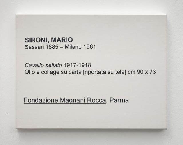 , 'LCM, Sironi, Mario, Cavallo sellato 1917-18,' 2009, OSL Contemporary