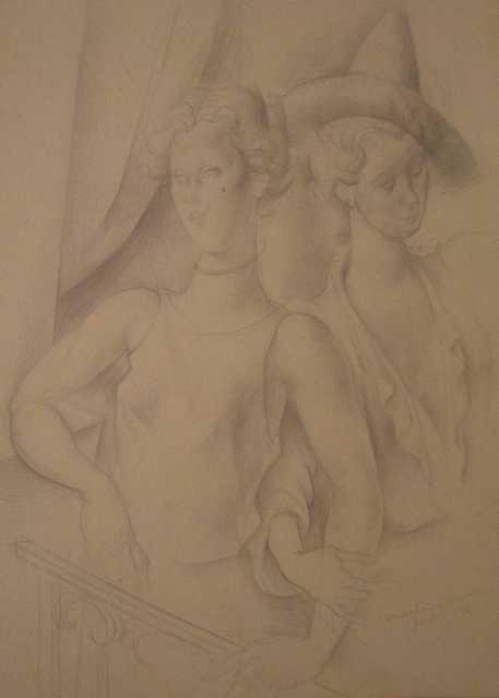 , 'Couple on the balcony,' 1931, Artur Ramon Art