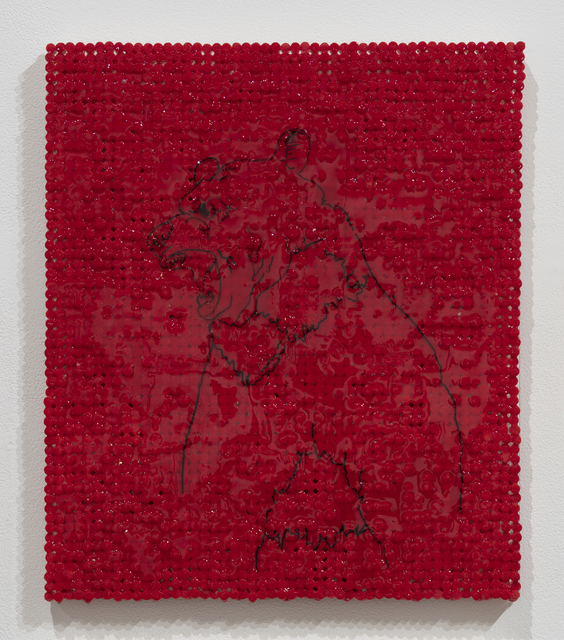 , 'Red Bear,' 2018-2019, Elizabeth Leach Gallery