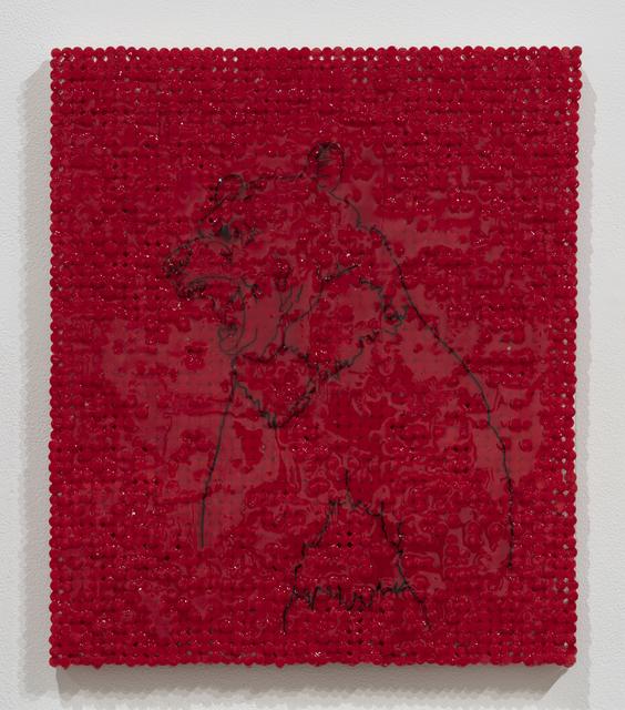 , 'Red Bear,' 2018-2019, Elizabeth Leach Gallery