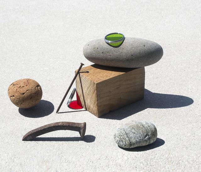 Ilán Rabchinskey, 'Stones, wood, clay, metal, chromatic filters', 2017, Patricia Conde Galería