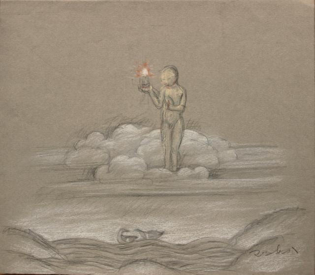 Pei Zhuangxin, 'Sketch ⼿稿《靜靜的景觀》', 2004, W.Ming Art