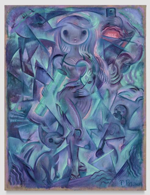, 'Composition in Aqua and Lilac,' 2018, ODD ARK•LA