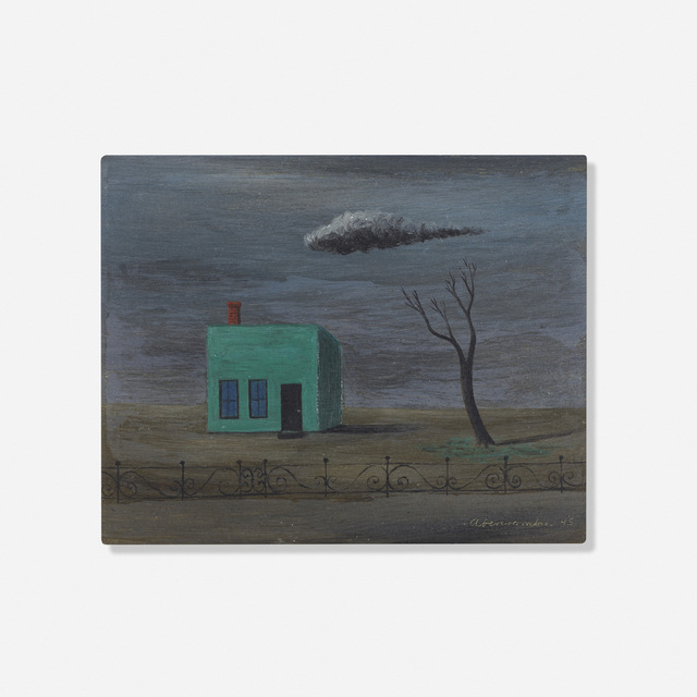 Gertrude Abercrombie, 'Green House and Fence', 1945, Wright
