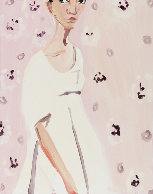 , 'Girl with Pink Wallpaper,' 2016, Galerie Forsblom