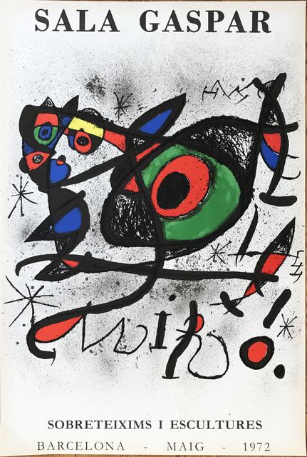 """, 'Affiche pour l' exposition """"Sobreteixims i escultures"""". Sala Gaspar, Barcelona.,' 1972, Fairhead Fine Art Limited"""