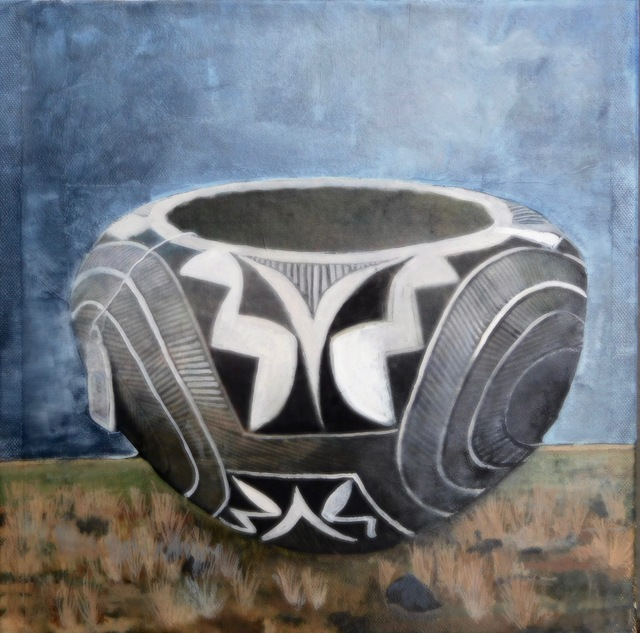 Christina Penrose, '#1 acoma pottery/#1 american indian series', 2018, Painting, Gouach on canvas, InLiquid