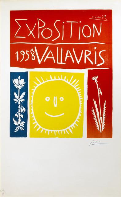 Pablo Picasso, 'Vallauris 1958 Exposition', 1958, New River Fine Art