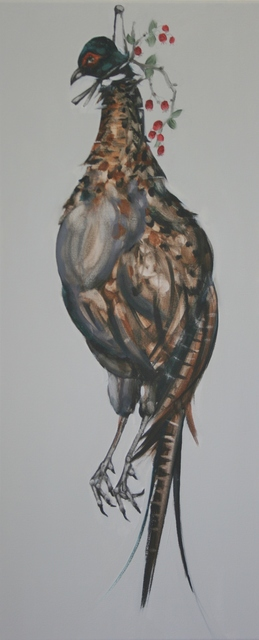 , 'Pheasant with Hawthorn,' 2017, Sarah Wiseman Gallery