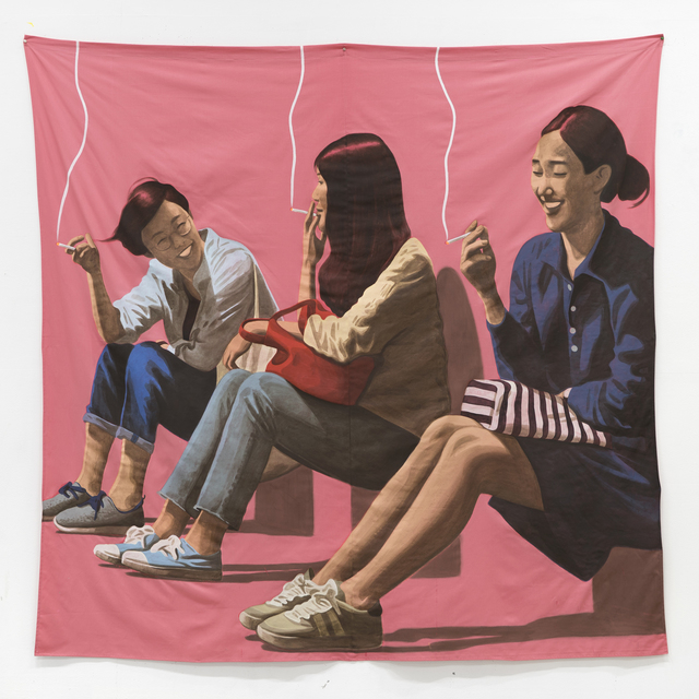 , 'Four of Us Gathered by Chance, and We Had Drinks,' 2017, Hakgojae Gallery