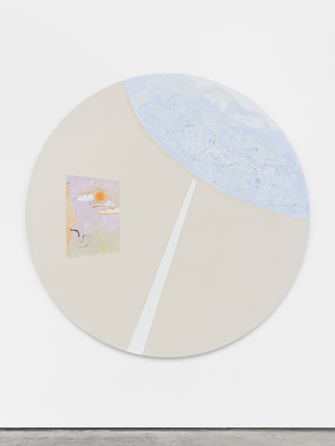 Florian Meisenberg, 'From the Series: I don't think he knows how to turn on a computer (brief pause)', 2016, Painting, Airbrush, oil paint, iridescent acrylic paint, Wentrup