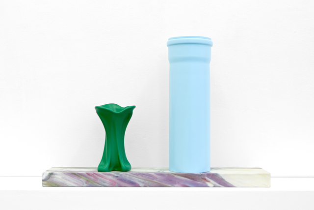, 'Vitrine Stand & 2 Prague Objects I,' 2015, Galerie Meyer Kainer
