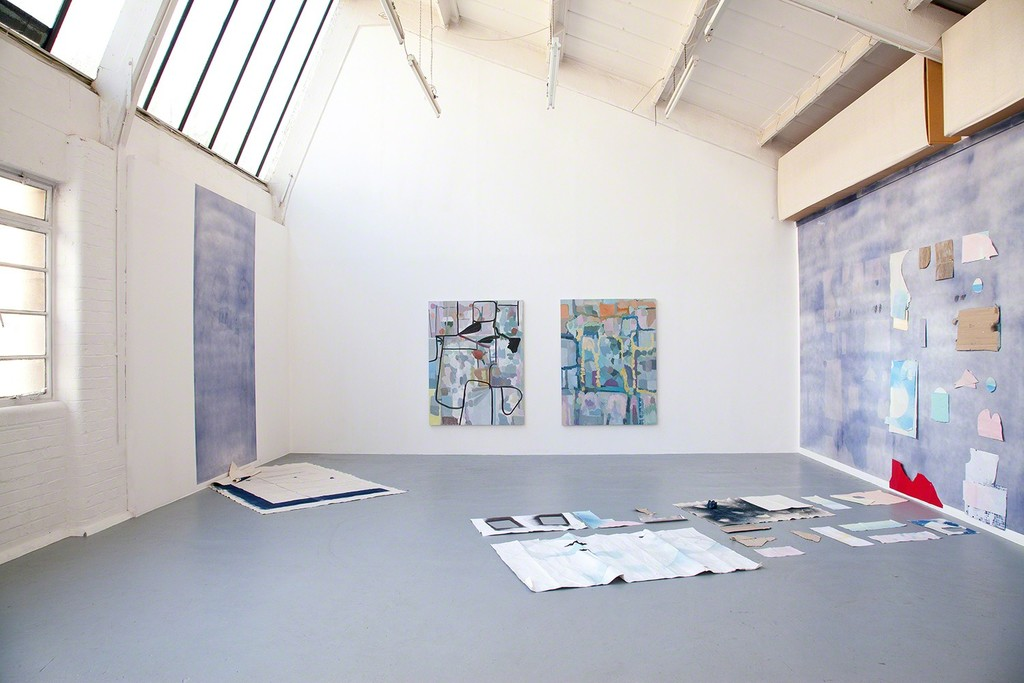 The artist has worked with the mediums of painting, photography and installation to produce wall and floor-based objects that present a series of exterior views – often distorted and abstracted – that engage the pictorial idea of window space. With particular emphasis on the role of mise-en-scène in the production of narrative, the work makes a number of allusions to the setting of a scene, or location, from interior space.