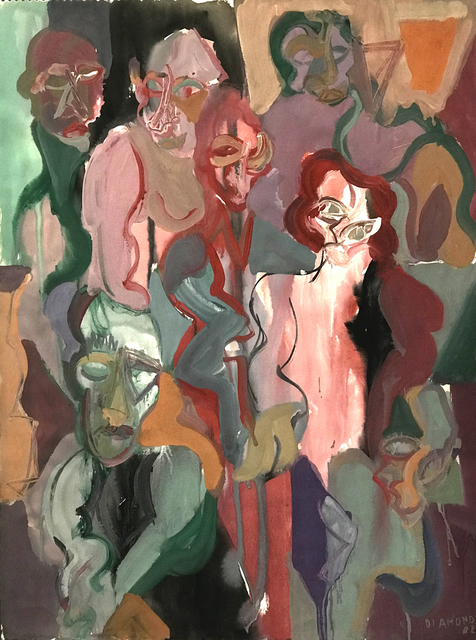 , 'Untitled (Six Figures One Head),' 1982, The Good Luck Gallery