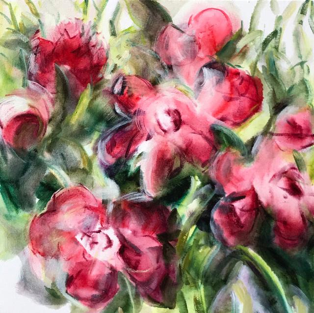 , 'Garden Study in Crimson,' 2018, Bau-Xi Gallery