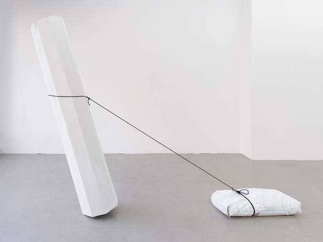, 'Säule, Gipssack ziehend (Column, pulling a bag of plaster),' 1988, Kadel Willborn