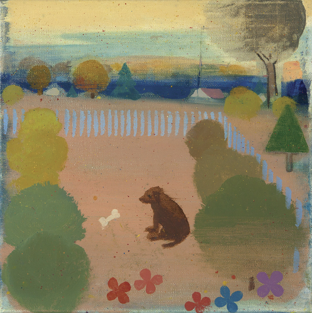 Tollef Runquist, 'Dog with Flowers ', Dowling Walsh