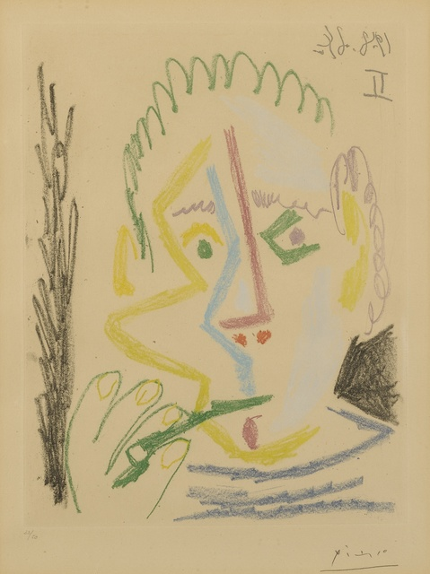 Pablo Picasso, 'Fumeur. I (B. 1165; Ba. 1165)', Print, Soft-ground etching printed in colors, Sotheby's