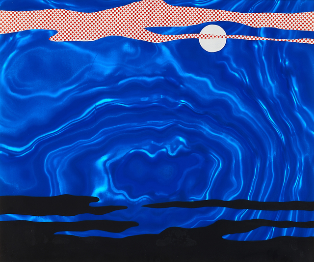 Roy Lichtenstein, 'Moonscape from 11 Pop Artists I', 1965, Print, Screenprint in colors on blue Rowlux film (framed), Rago/Wright