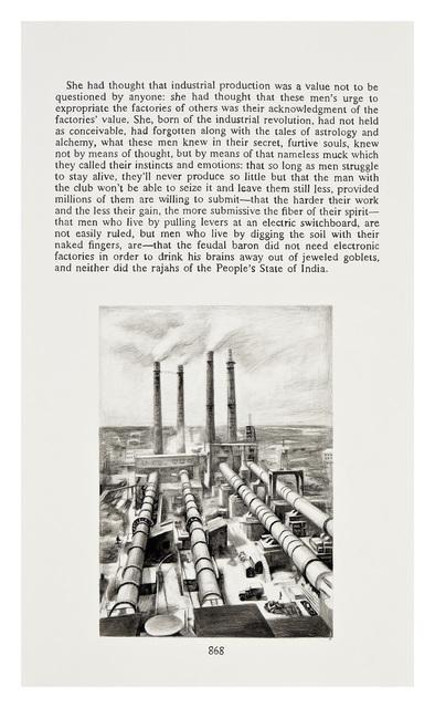 Yevgeniy Fiks, 'Ayn Rand in Illustrations (Atlas Shrugged, page 868)', 2010, Winkleman Gallery