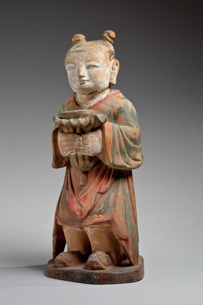, 'Celestial Youth (Dongja) Altar Attendant,' 1392, Newark Museum