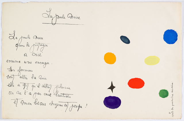"Joan Miró, '""Il était une petite pie"" (There Was a Little Magpie)', 1928, Cerbera Gallery"