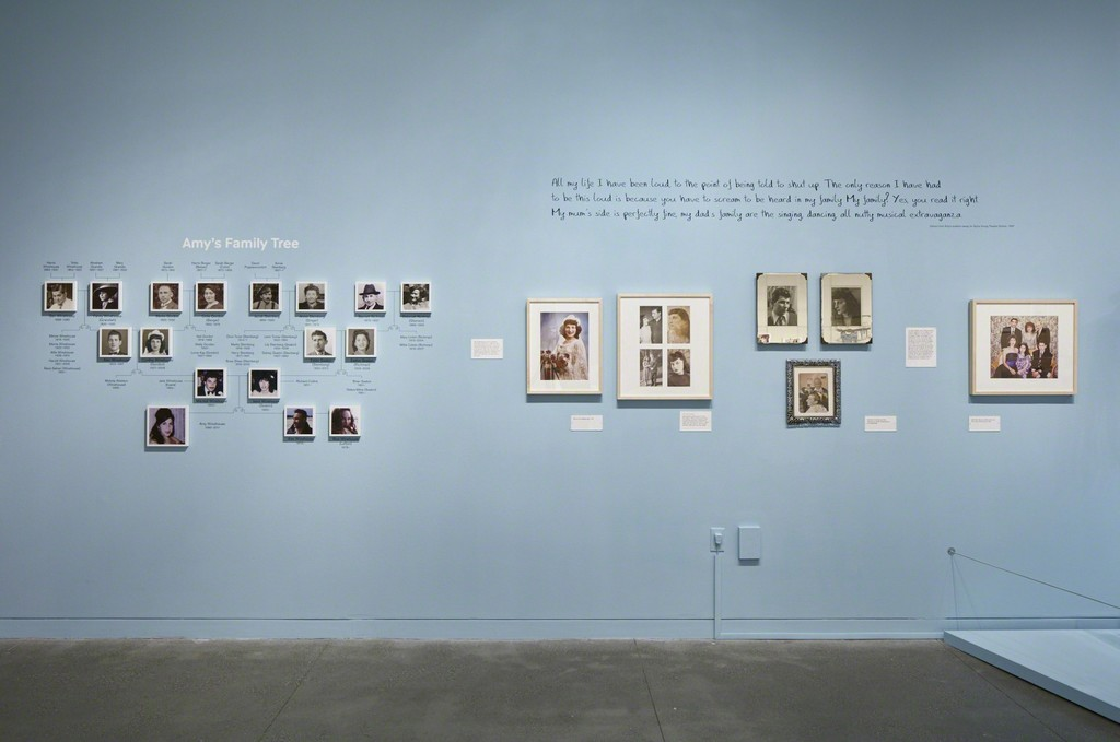 """Amy Winehouse: A Family Portrait"" (2015) at Contemporary Jewish Museum, San Francisco. Photo: Johnna Arnold"