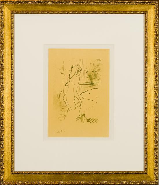 Henri de Toulouse-Lautrec, 'Etude de Femme', 1950, Print, Lithograph in yellow, Art Ventures Gallery