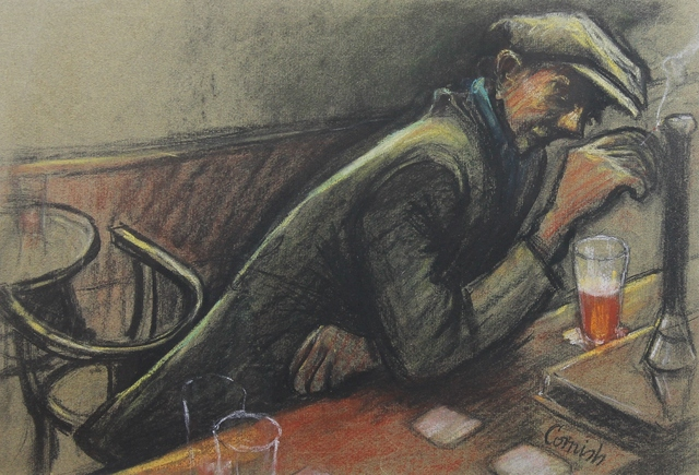 Norman Cornish, 'Man at bar iii', ca. 1970, Castlegate House Gallery