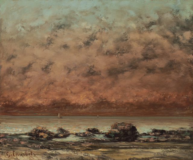 Gustave Courbet, 'The Black Rocks at Trouville', 1865/1866, National Gallery of Art, Washington, D.C.