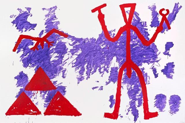 """, '""""Zeichen der Realität-Realität der Zeichen (Sign of Reality – Reality of Signs)"""",' 1981, Michael Werner Gallery"""