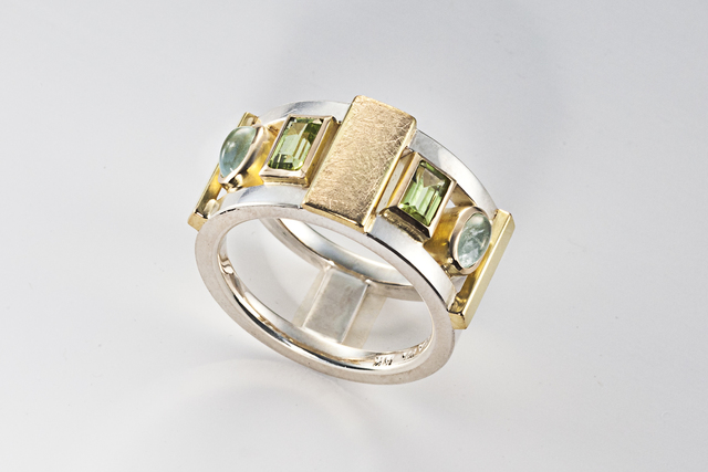 , 'Aquamarine and Peridot Ring ,' ca. 2016, Facèré Jewelry Art Gallery