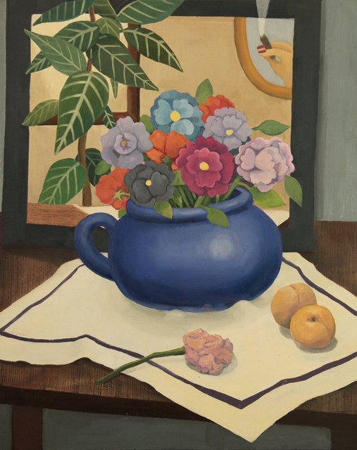 , 'Still Life with Flowers and Apricots ,' , Taymour Grahne