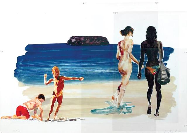 , 'Girl Walking, Boy Throwing Stone,' 2017, Sims Reed Gallery