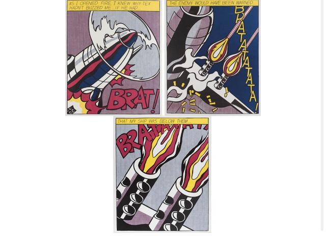 Roy Lichtenstein, 'As I Open Fire', 1966-2000, Print, Offset lithograph on heavy weight paper, Leonards Art
