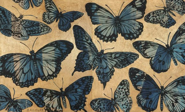 , 'Blue Butterflies (Diptych),' 2015, Caldwell Snyder Gallery