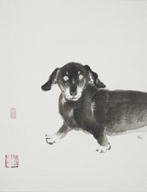 王怡然Wang Yi-Jan, '犬童丸', 2018, Drawing, Collage or other Work on Paper, Ink on paper, Asia University Museum of Modern Art