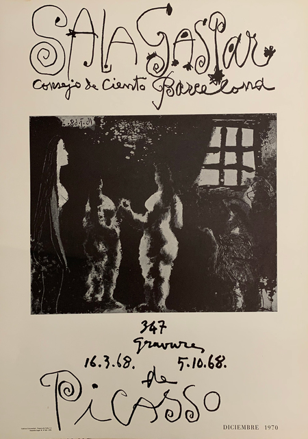 Pablo Picasso, 'Picasso. 347 Gravures  16.3.68   5.10.68', 1970, Posters, Typography, OBA/ART