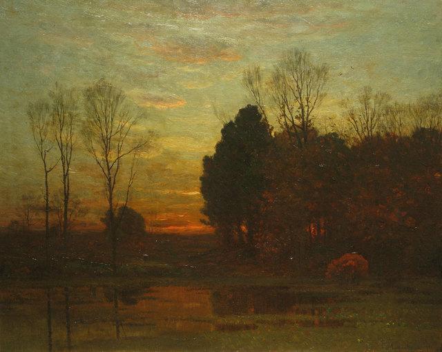 John Joseph Enneking, 'Tranquility at Sunset', 1879, Vose Galleries