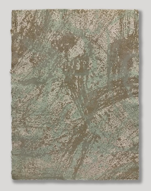 Sam Gilliam, 'Marathon', 1999, Print, Relief Lithograph, Approximately Blue
