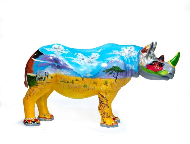 Ronnie Wood, 'Spike', 2018, Sculpture, Rhino: fibreglass rhino (fire retardant) with internal armature Finish: Acrylic and varnishes, Tusk Benefit Auction