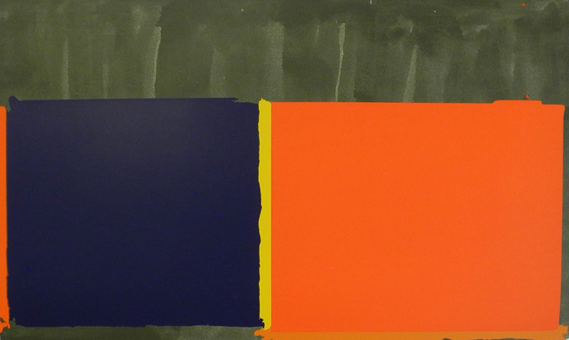 , 'Large Swiss Orange and Blue,' 1969, Charles Nodrum Gallery