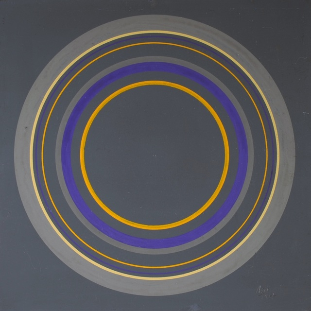 Antonio Asis, 'Untitled from the series Cercles Concentriques', 2011, Painting, Gouache on cardboard-canvas, Sicardi   Ayers   Bacino