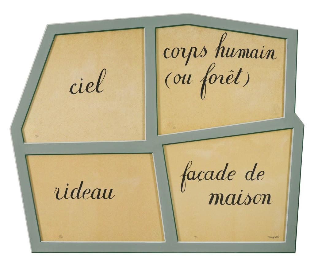 René Magritte Le Masque Vide 2010 Available For Sale