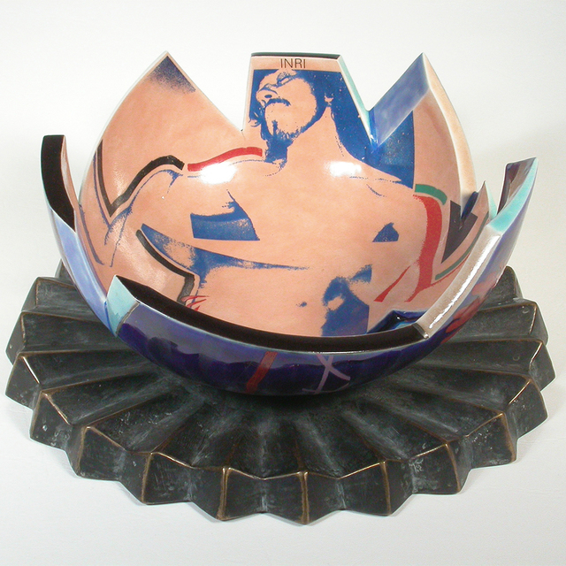 , 'Crucifixion Bowl,' 1984, Bellevue Arts Museum