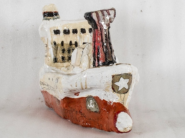 , 'Study Of A Ship Like Form No. 5 (Red),' 2015, Rebecca Hossack Art Gallery